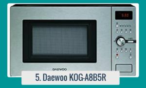 Daewoo KOG-A8B5R Microondas con Grill 23L 800W Acero Inoxidable