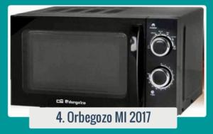 Orbegozo MI 2017 - Microondas sin grill (700 W de potencia,