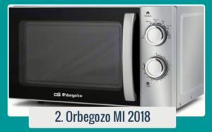 Microondas Orbegozo MI 2018. Perfecto para calentar con rapidez y cocinar tus mejores platos.