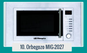 Microondas ORBEGOZO MIG 2027 Microondas de 800W. Capacidad 20 L. Grill los 1.200 W