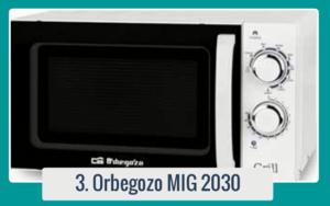 Análisis de ORBEGOZO MIG 2030 | Comparador de Microondas