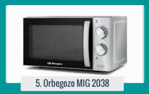 Comprar tu Orbegozo MIG-2038 Microondas/Grill 700W al mejor precio nunca había sido tan fácil y barato en una tienda de venta online con tantas ofertas