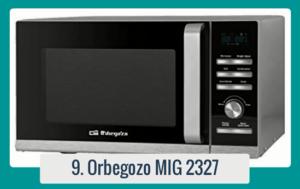 Microondas con parrilla ORBEGOZO MIG 2327 . Capacidad: 23L Potencia del microondas: 900 W Potencia del Grill: 1000 W 36 menús de cocción automática