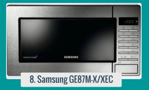 Microondas Samsung GE87MX/XEC con capacidad de 23 litros