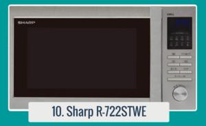 Horno de microondas con parrilla Sharp R722STWE con control Tact & Dial y pantalla LED en un diseño moderno. Combina todos los beneficios del microondas rápido