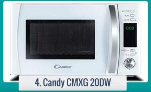 El horno microondas Candy CMXG 20 DW es la solución ideal para cualquier cocina moderna. Viene en plata con controles digitales y pantalla LCD / LED.