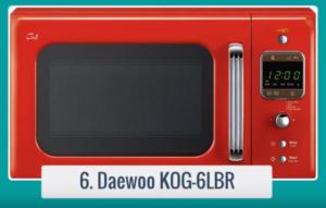 Aquí podrás observar las características más importantes del Microondas Daewoo KOG-6LBR