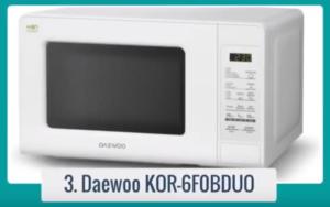 El microondas Daewoo KOR-6F0BDUO es un candidato que sin duda, cubrirá todas esas expectativas, además de mantenerse dentro de un precio barato